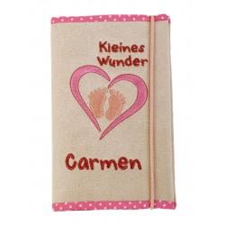 """Mutter-Kind-Pass Hülle """"Kleines Wunder"""" mit persönlichem Stick"""